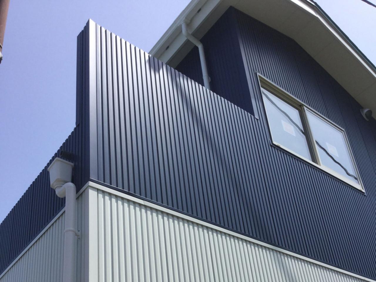 外壁金属サイディング・破風ガルバリウム巻き(西伊豆町)